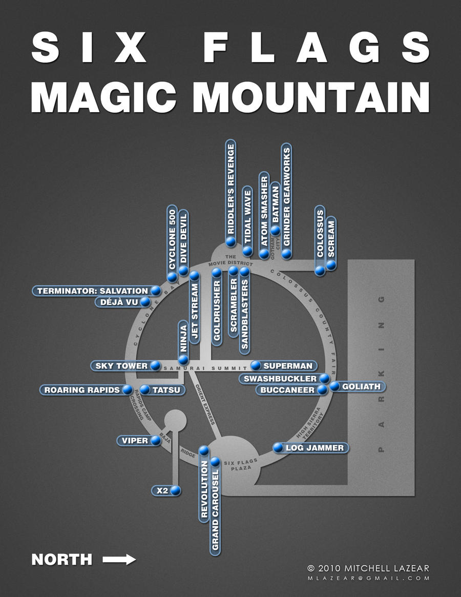 Magic Mountain Map - Simple by MitchellLazear