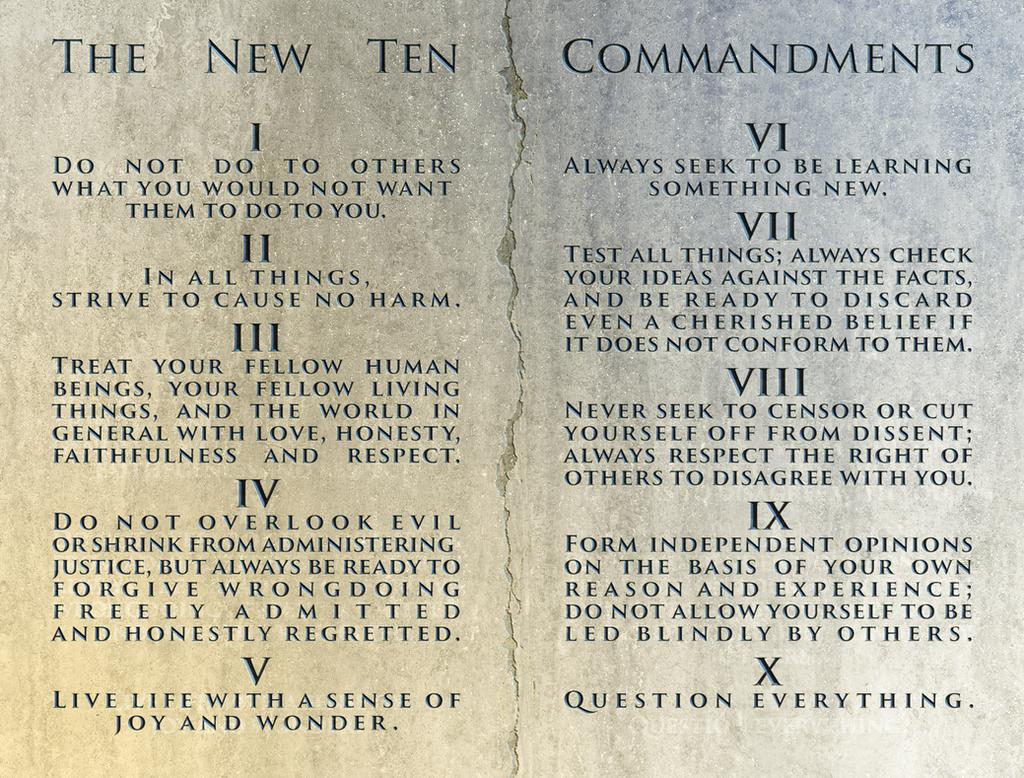 The New Ten Commandments by MitchellLazear on DeviantArt