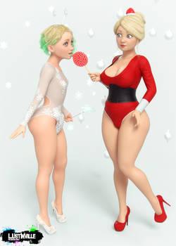 Christmas snowflake and Santa Baby