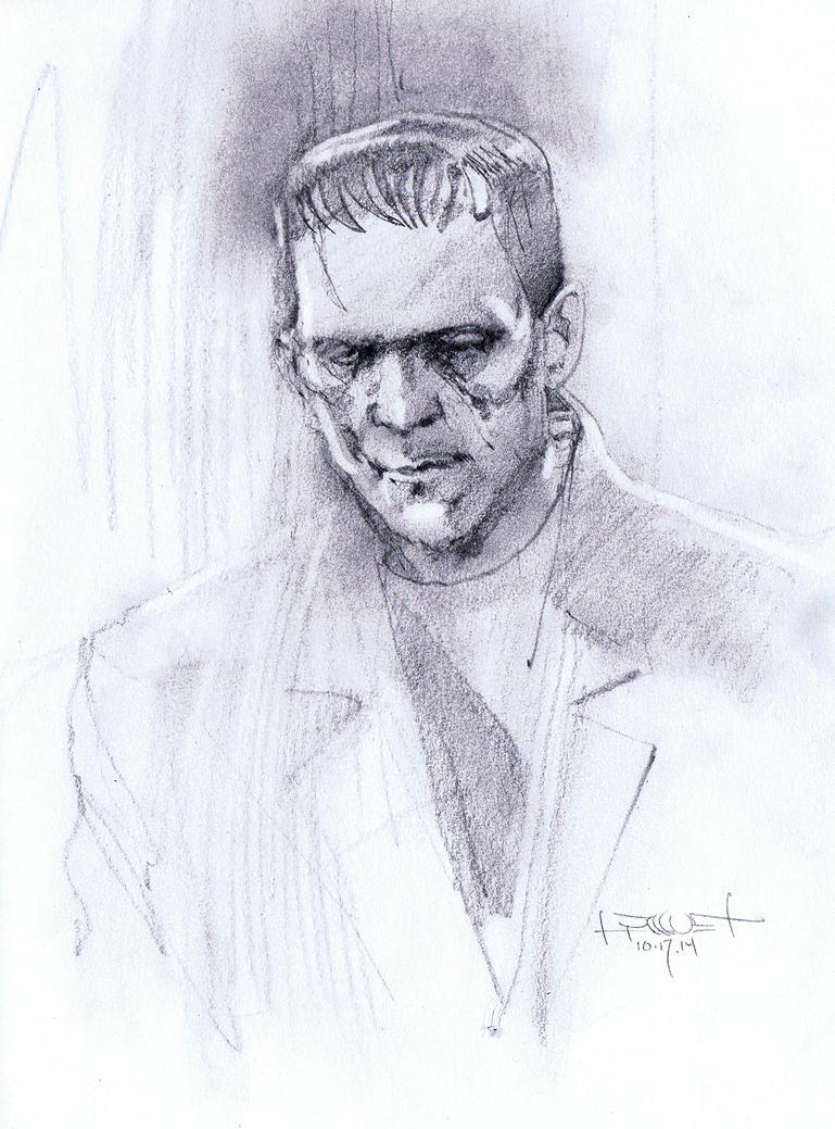 Boris Karloff Frankenstein by Fusciart