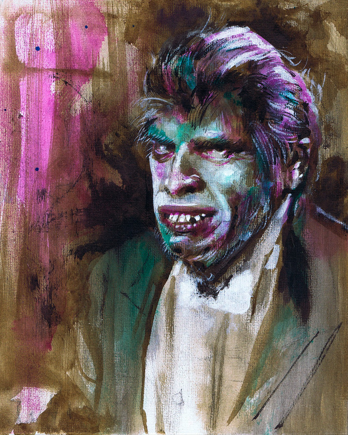 Mr Hyde Canvas by Fusciart