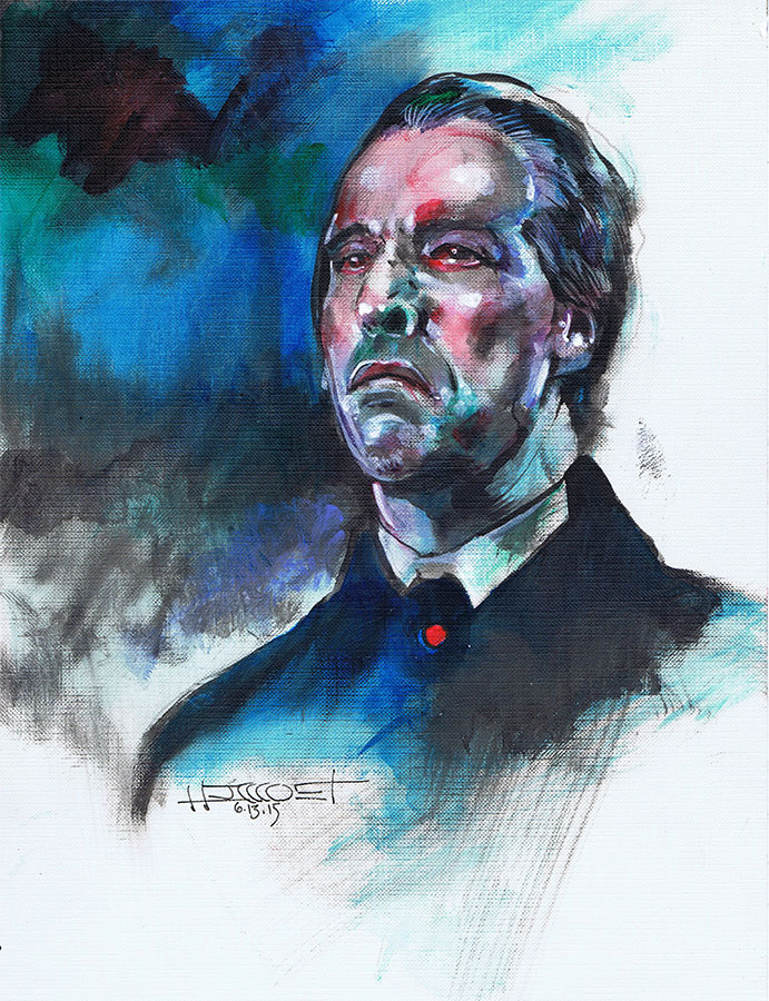 Christopher Lee Color by Fusciart