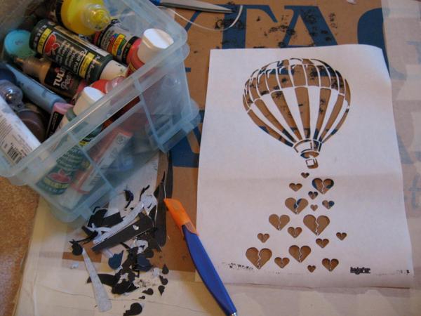how to make stencil art