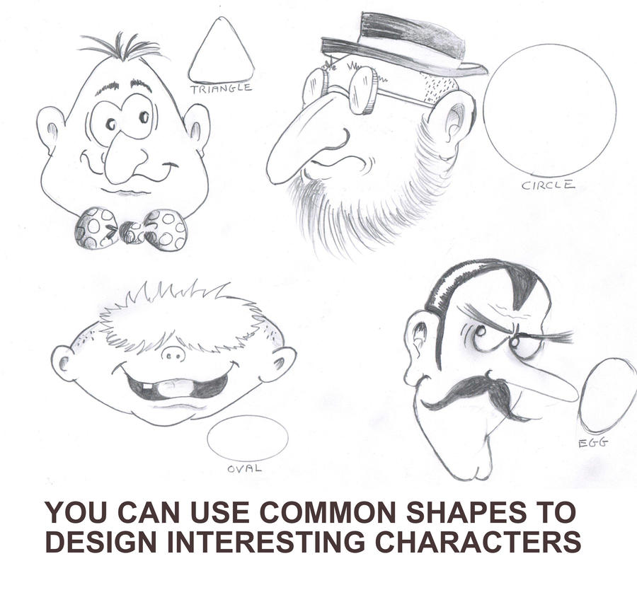 how to draw a basic cartoon character