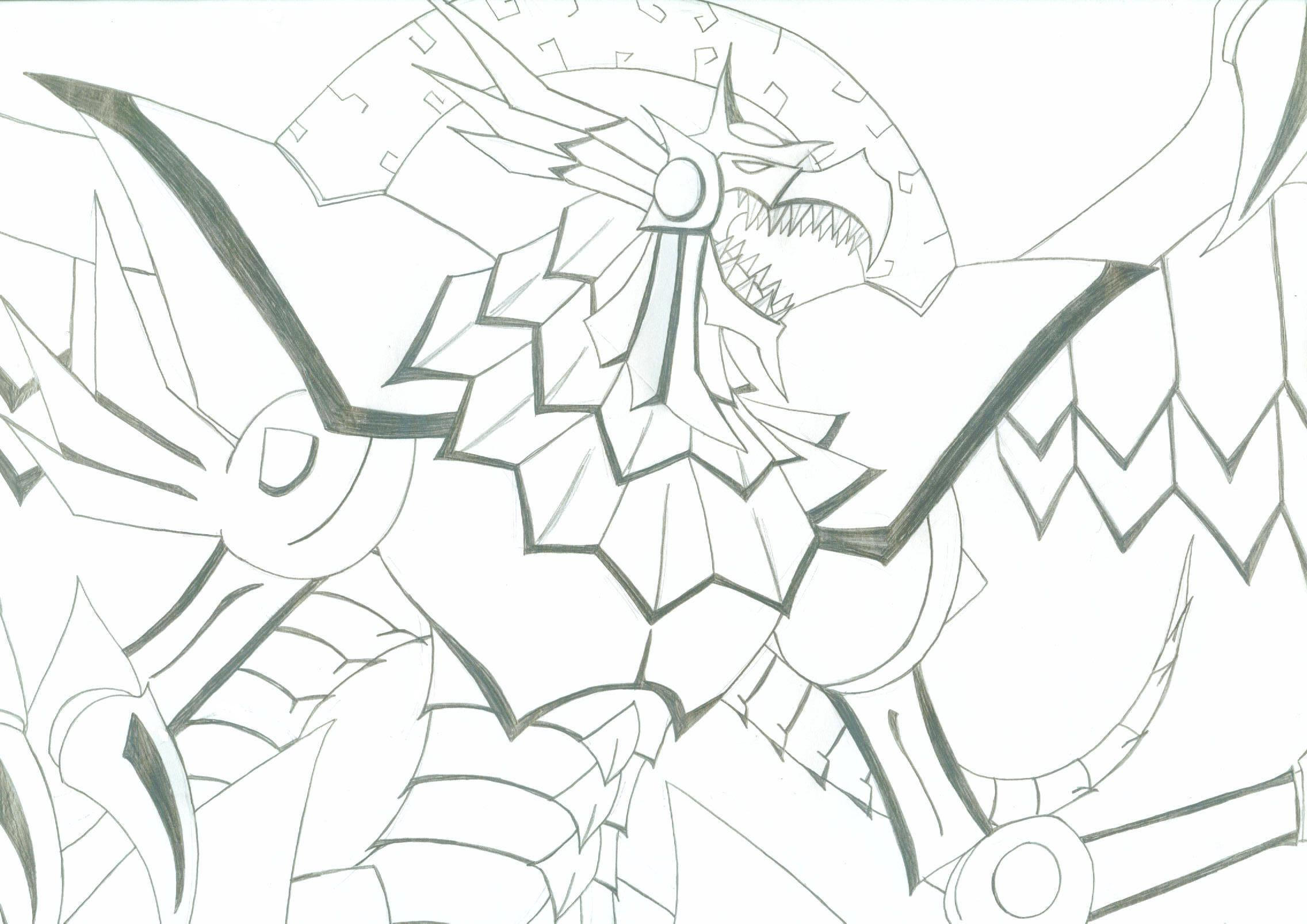Winged Dragon of Ra by KinashaK