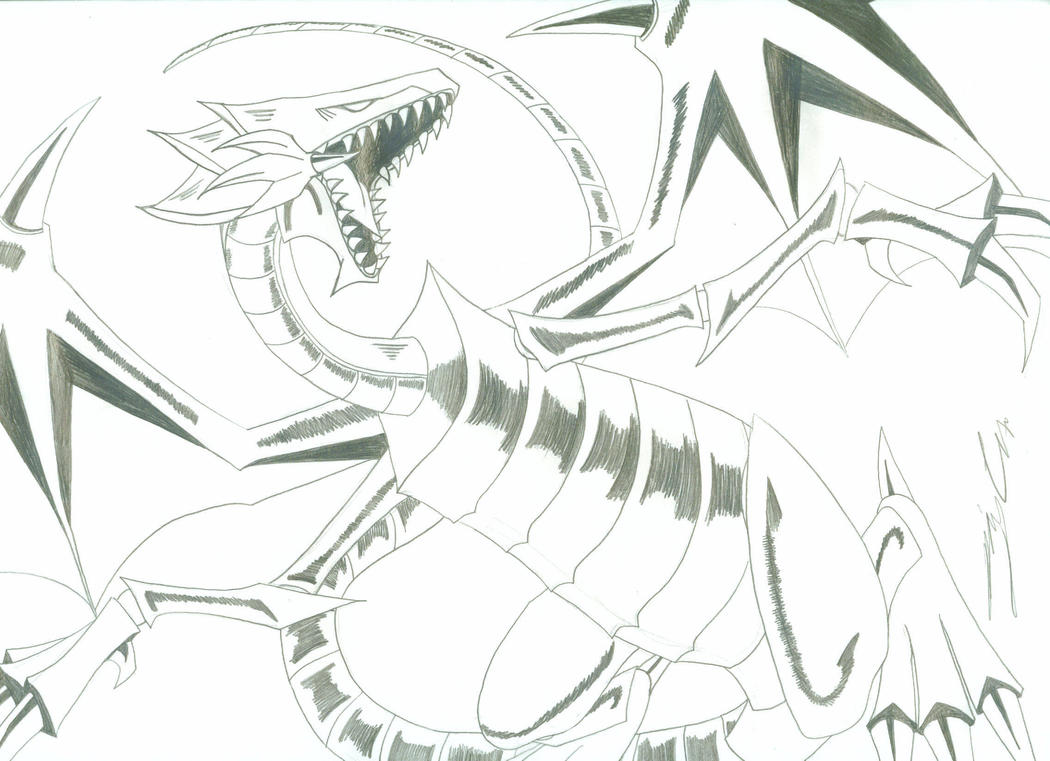 Winged Dragon Of Ra Slifer The Sky Dragon Coloring Pages