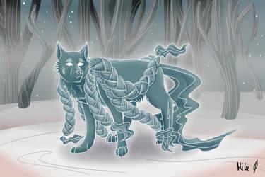 Karolina Birthday - Spirit wolf by HawkHunting
