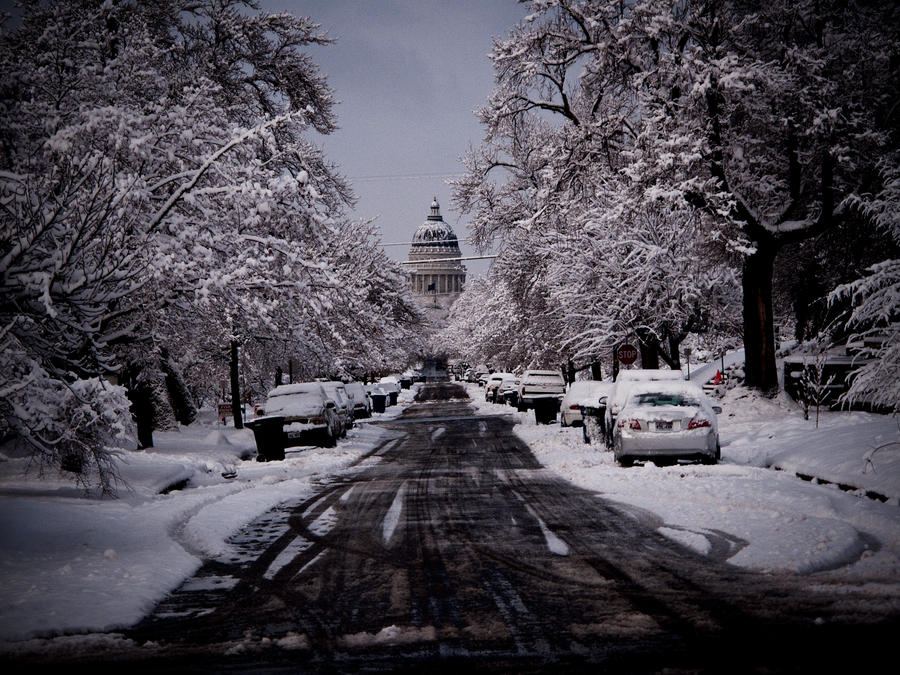Capitol after a snow by obviologist