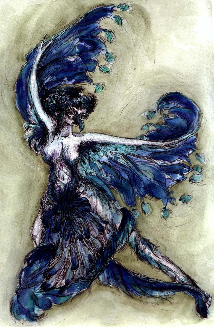 The peacock by coeurdartiste