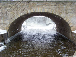 Winter Waterfall : 02 by taeliac-stock