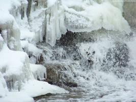 Winter Waterfall : 03 by taeliac-stock