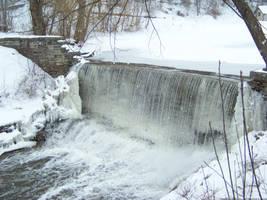 Winter Waterfall : 04 by taeliac-stock