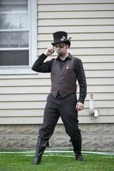 Steampunk Guy Standing : 03