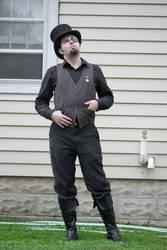 Steampunk Guy Standing : 09