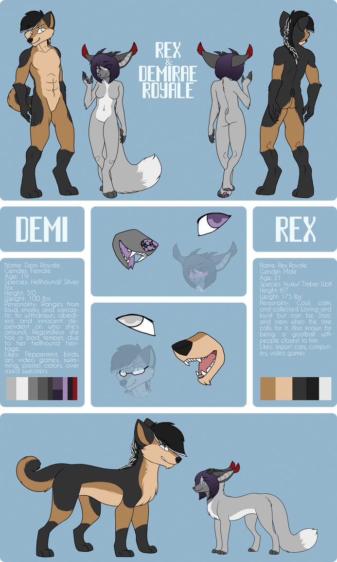 Demi and Rex Royale Ref 2015 by DemiTheAwwesome