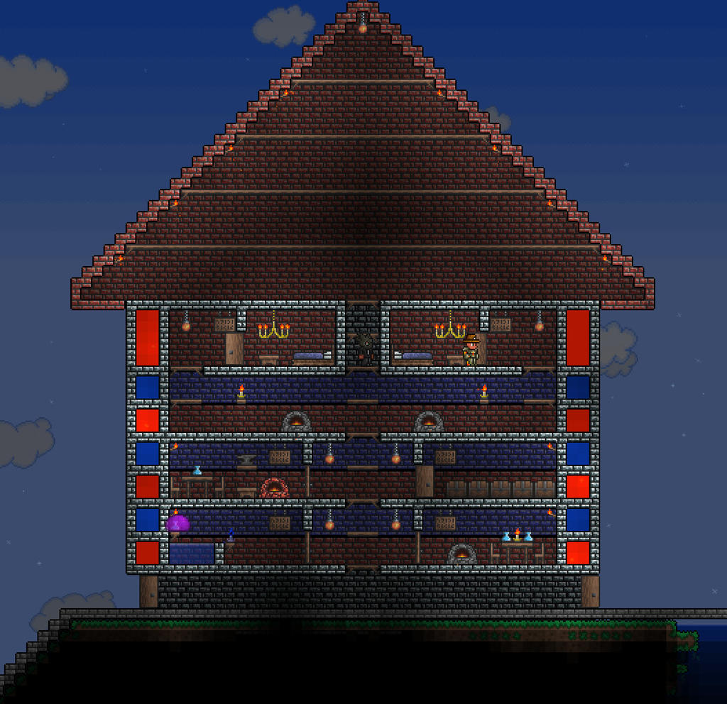 Terraria house designs pictures to pin on pinterest for Terraria house designs