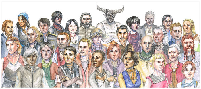 Dragon Age Modern Style - The Whole Gang!