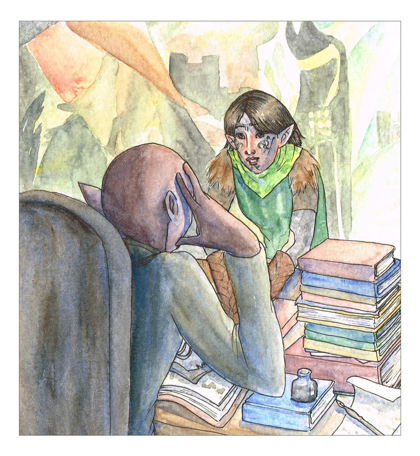 Dragon Age - Solas and Merrill by liannimal