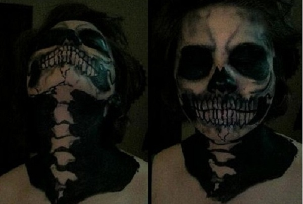-1st attempt skull make-up by CorporatePuppet