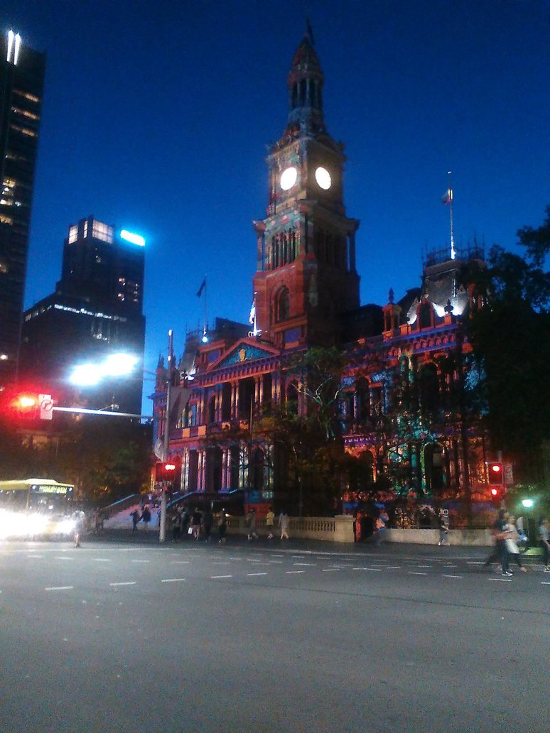 Town hall at night 2# by CorporatePuppet