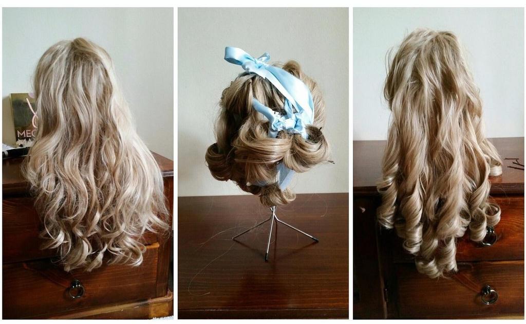 Recurling wig progress by CorporatePuppet