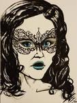 Inktober 2017 day 31 'mask'