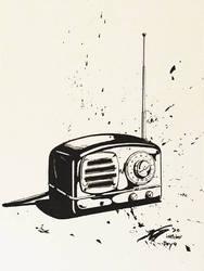 Inktober 2020 day 4 'radio'
