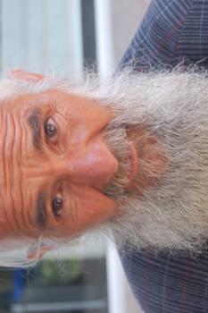 Old homeless man