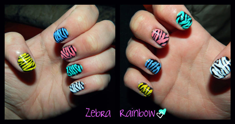 Animal Nail Art Design 1 Zebra By Geekynerdgirl17 On Deviantart