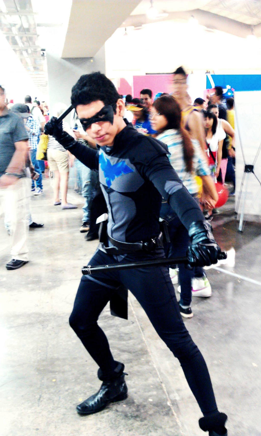Young Justice Nightwing Cosplay Costume - Hot Girls Wallpaper