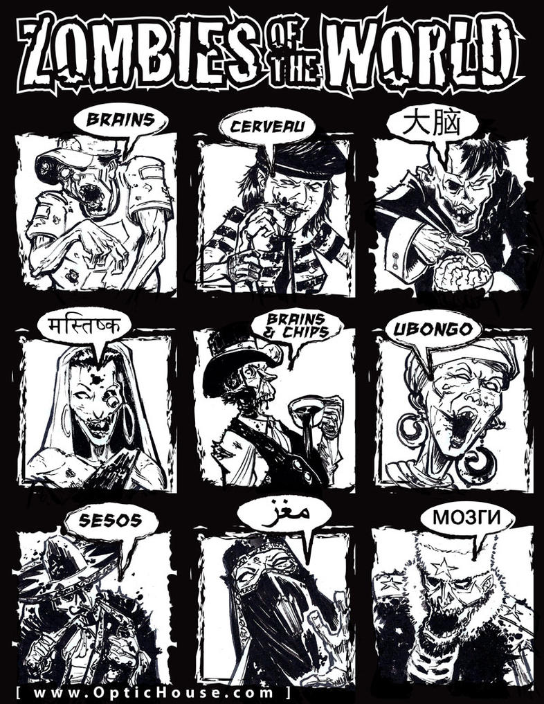 Zombie Line Art : Zombie line art by gerimib on deviantart