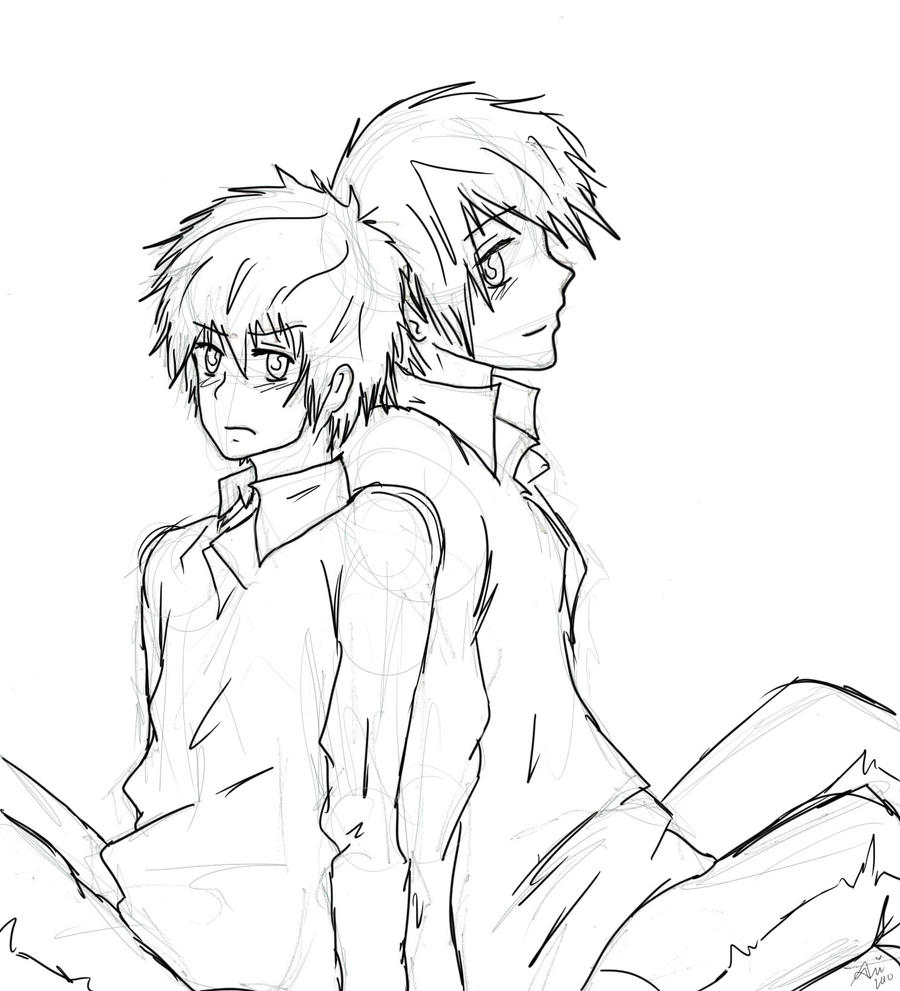 random yaoi couple by mandaisrad on deviantart