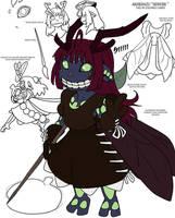 Glowing locust queen by drowtales