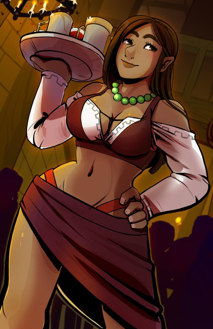 Barmaid by drowtales