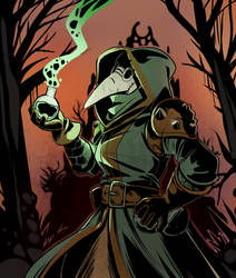 darkest dungeon Plague doctor by drowtales