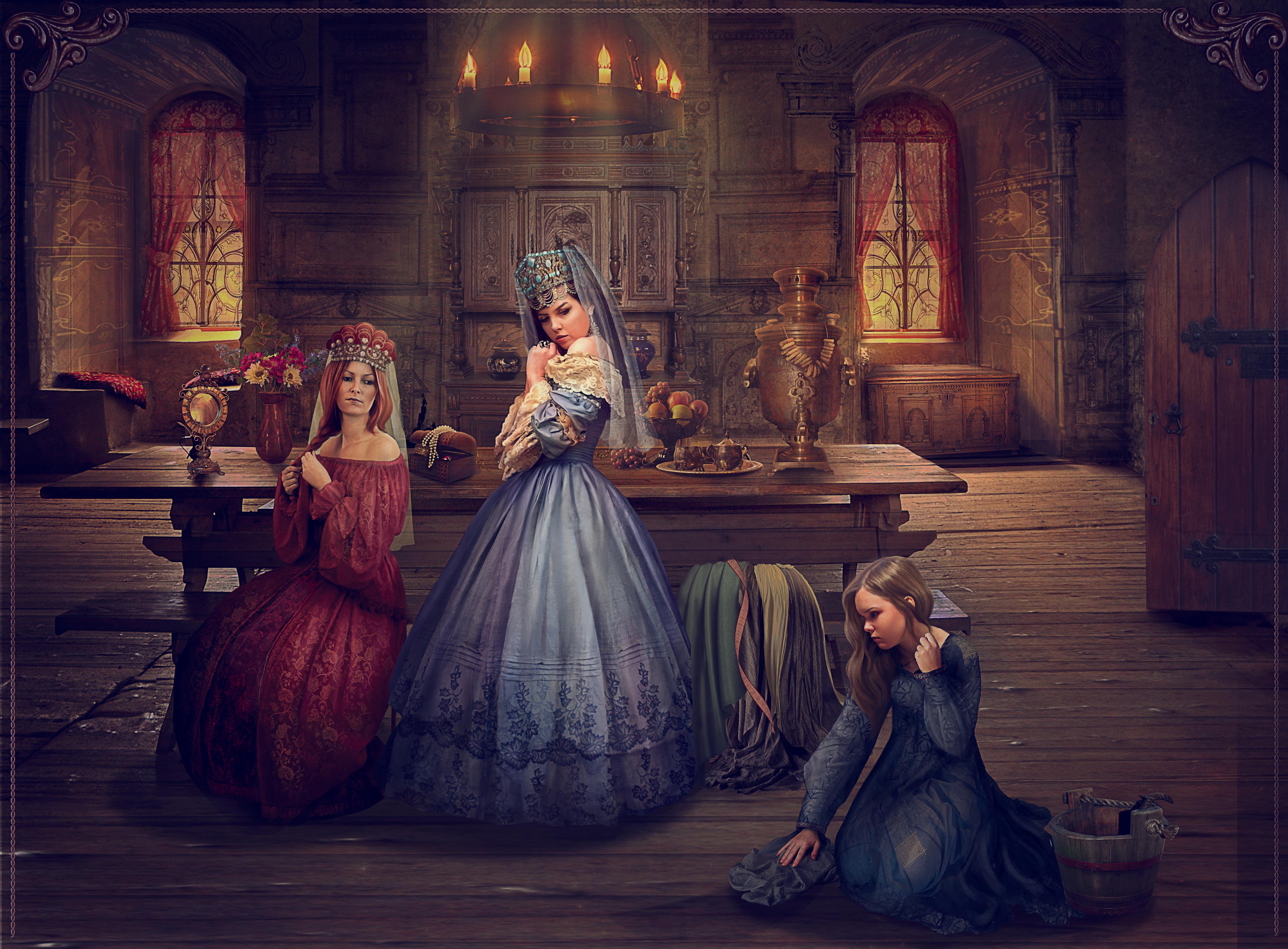 Vasilisa's angry sisters by Vasylina