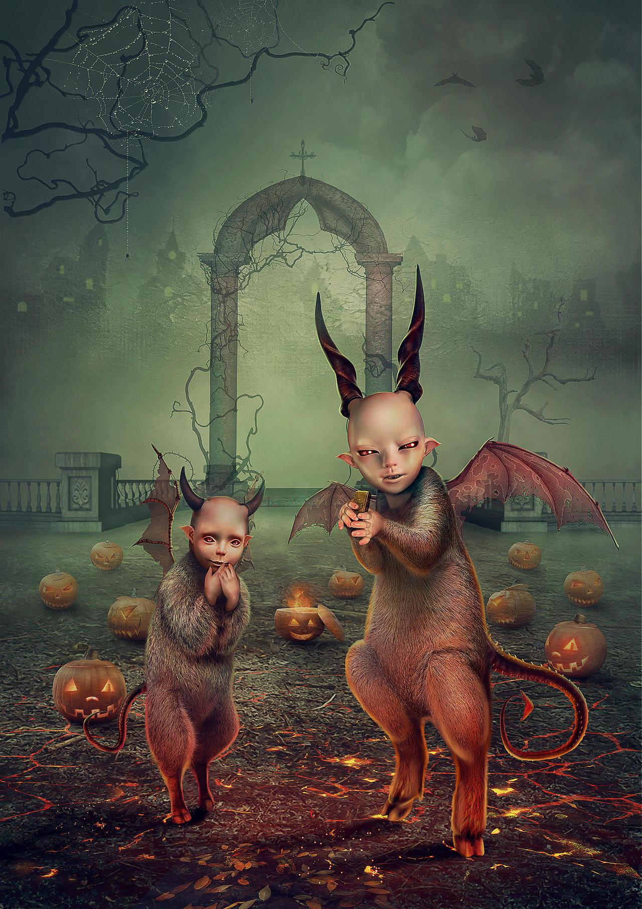 Evil spirits Halloween by Vasylina on DeviantArt