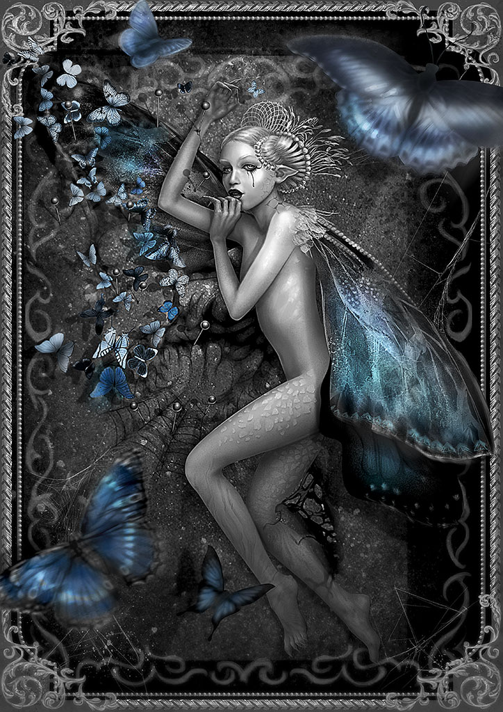 dying butterfly by Vasylina