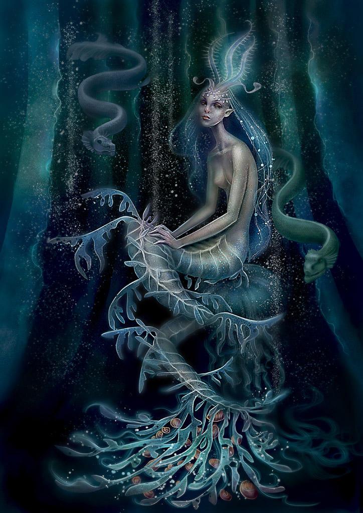 strange mermaid by Vasylina