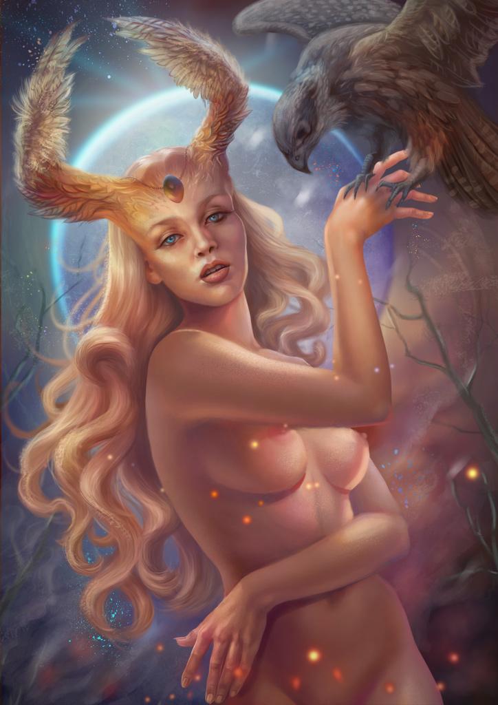 Mystery. Moon goddess. Freya. by Vasylina