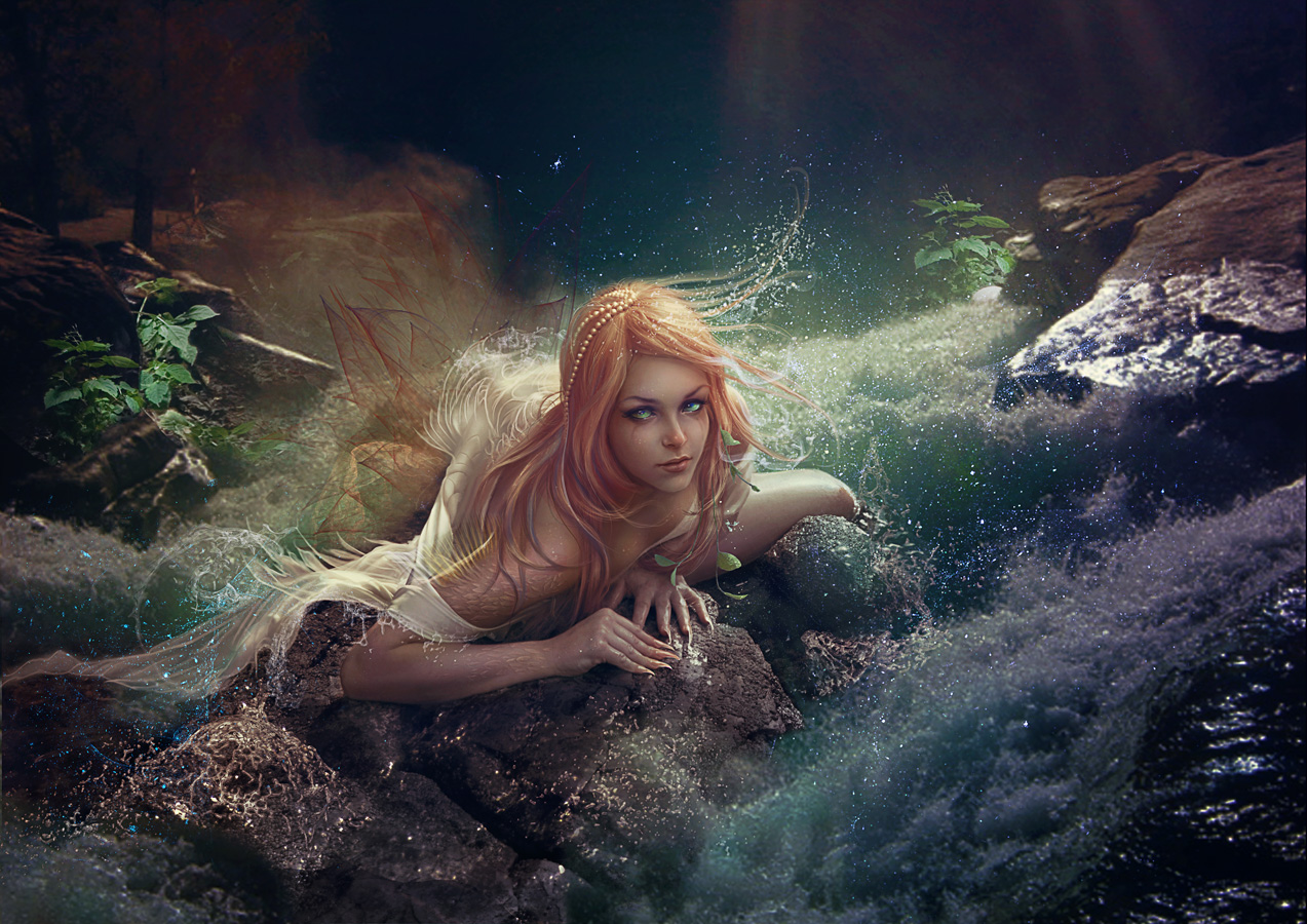 Slavic mythology. Mermaid. by Vasylina