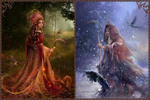 Slavic mythology.  Morana