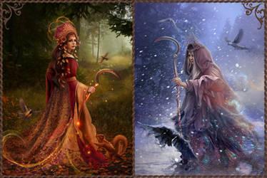 Slavic mythology.  Morana by Vasylina