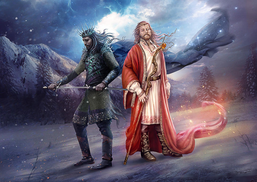 Slavic mythology. Belobog and Chernobog