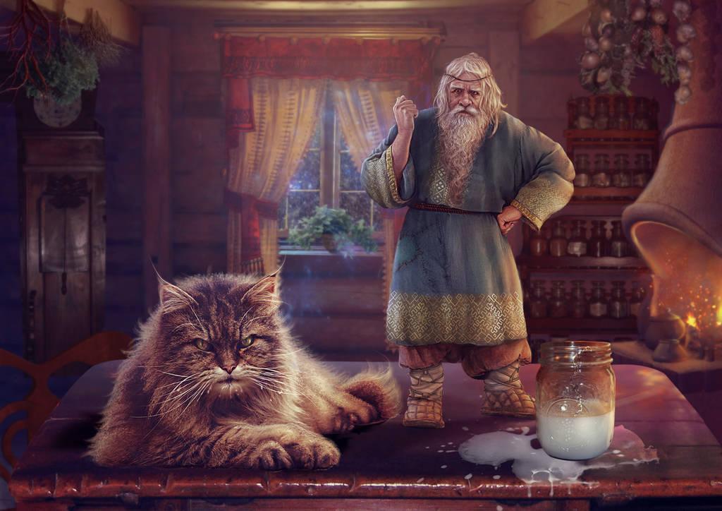 Slavic mythology. Domovoi by Vasylina