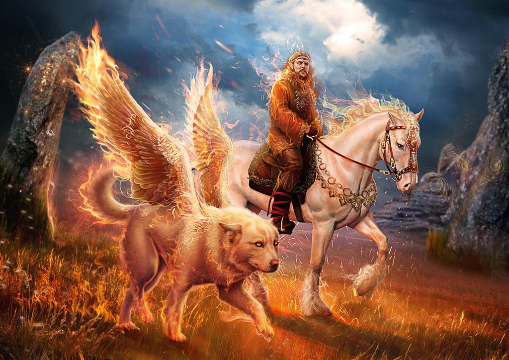 Slavic mythology. Semargl by Vasylina