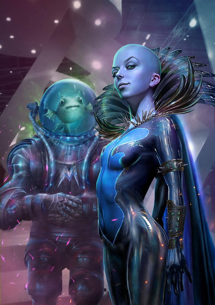 Lady Megamind (sex change) by Vasylina