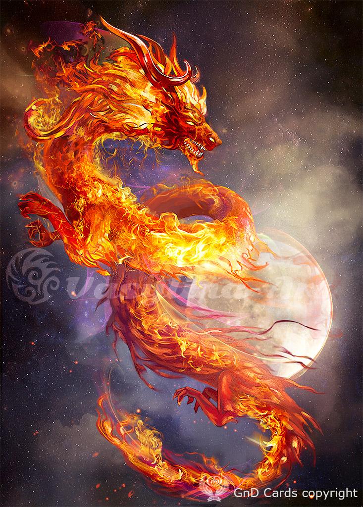 fire dragon by vasylina on deviantart. Black Bedroom Furniture Sets. Home Design Ideas