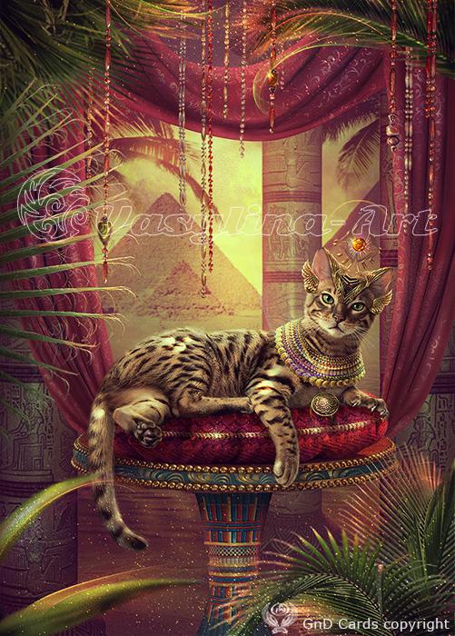 Egyptian cat by Vasylina