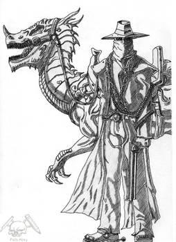 Bounty Hunter and dragon